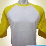 Kaos Raglan 3/4 Putih-Kuning