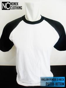 Raglan Pendek O-neck Putih-Hitam